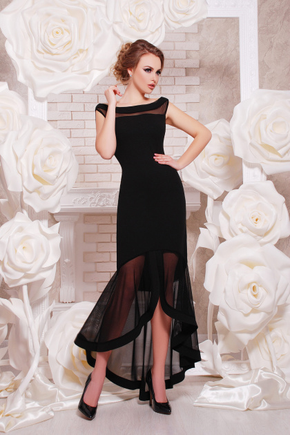 красное вечернее платье. платье Ингрид б/р. Цвет: черный