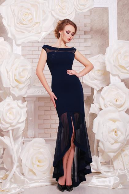 темно-синее вечернее платье. платье Ингрид б/р. Цвет: темно синий