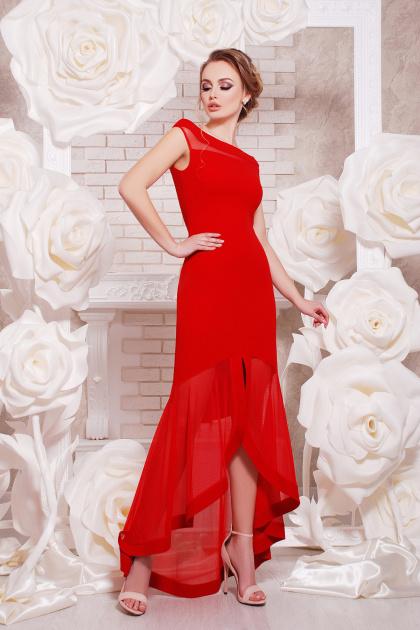 красное вечернее платье. платье Ингрид б/р. Цвет: красный