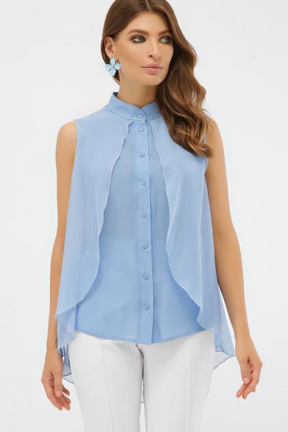розовая блузка без рукавов. блуза Санта-Круз б/р. Цвет: голубой