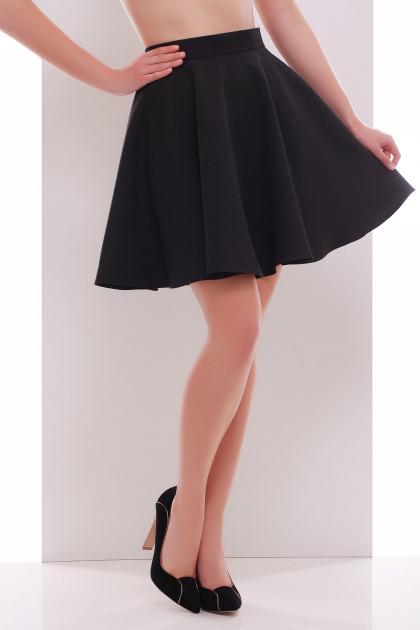 черная короткая юбка солнце. юбка мод. №30 (солнце). Цвет: черный