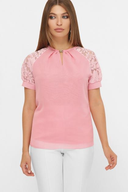 белая шифоновая блузка. блуза Ильва к/р. Цвет: персик