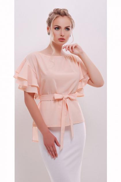 белая блузка с открытыми плечами. блуза Бьянка к/р. Цвет: персик