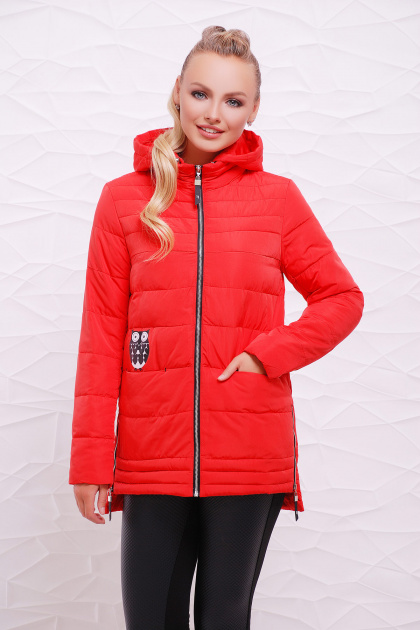 мятная демисезонная куртка. Куртка 11. Цвет: красный