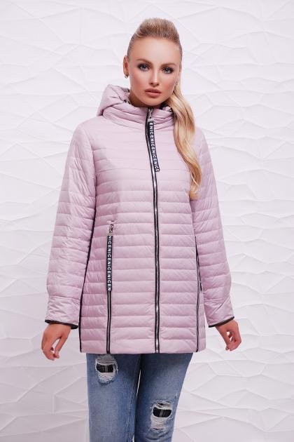 прямая розовая куртка. Куртка 12. Цвет: пудра