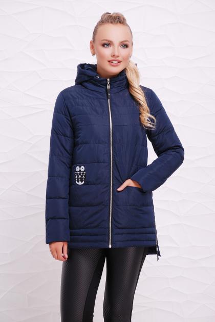 мятная демисезонная куртка. Куртка 11. Цвет: темно синий