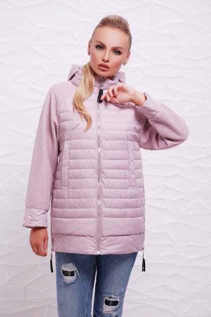 куртка мятного цвета с капюшоном. Куртка 15. Цвет: пудра