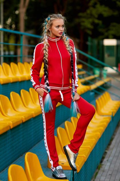 красный спортивный костюм со звездами. Красный-звёзды Костюм Стар. Цвет: принт
