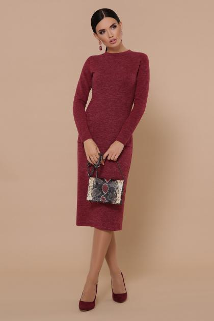 черное платье миди. платье Габриела д/р. Цвет: бордовый
