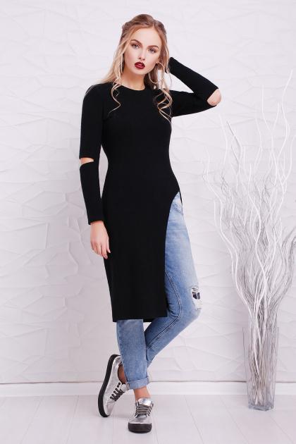 3b2357e25a09 черное теплое платье туника. платье-туника Алекса д р. Цвет  черный