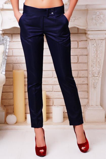 женские темно-синие брюки. брюки Хилори. Цвет: темно синий 2