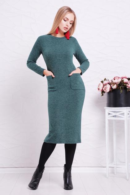 . платье Габриела д/р. Цвет: св. изумрудный