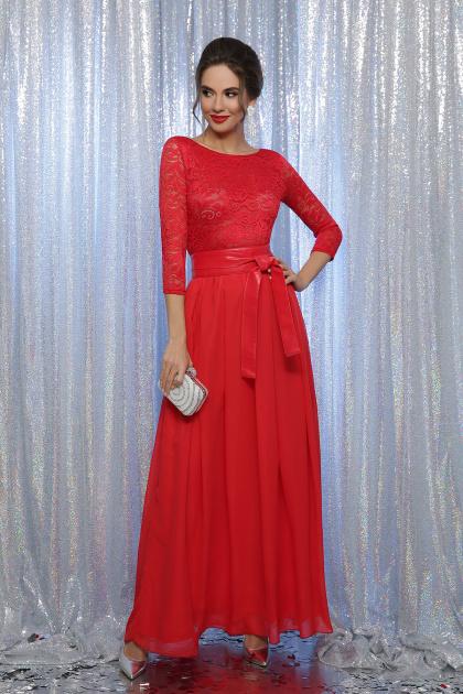 вечернее красное платье в пол. платье Марианна д/р. Цвет: красный