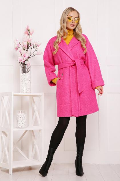клетчатое пальто прямого кроя. пальто П-300-90. Цвет: 1210