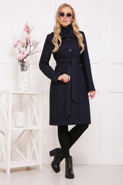 бордовое пальто с английским воротником. пальто П-319. Цвет: 1306