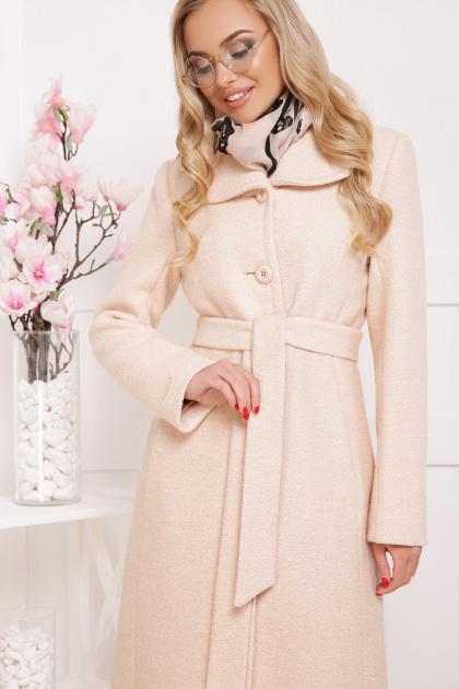 бордовое пальто с английским воротником. пальто П-319. Цвет: 1305