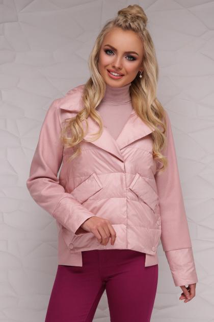 серая демисезонная куртка. Куртка 18-006. Цвет: пудра