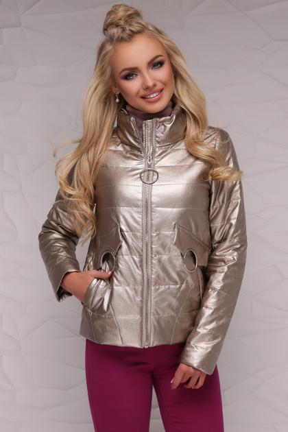куртка цвета пудры на весну. Куртка 18-126. Цвет: золотой