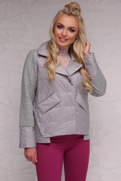 серая демисезонная куртка. Куртка 18-006. Цвет: серый
