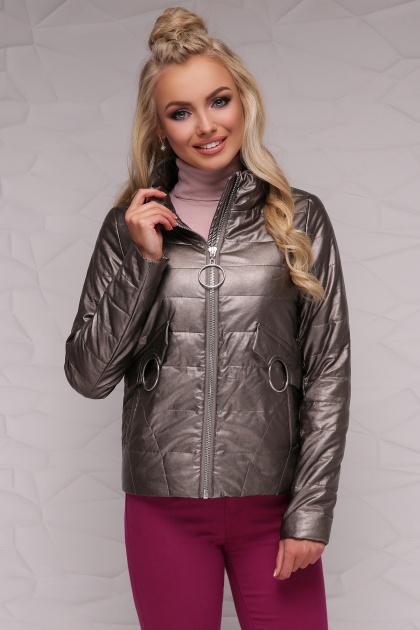 куртка цвета пудры на весну. Куртка 18-126. Цвет: бронзовый