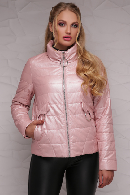 короткая куртка для полных женщин. Куртка 18-126(б). Цвет: пудра