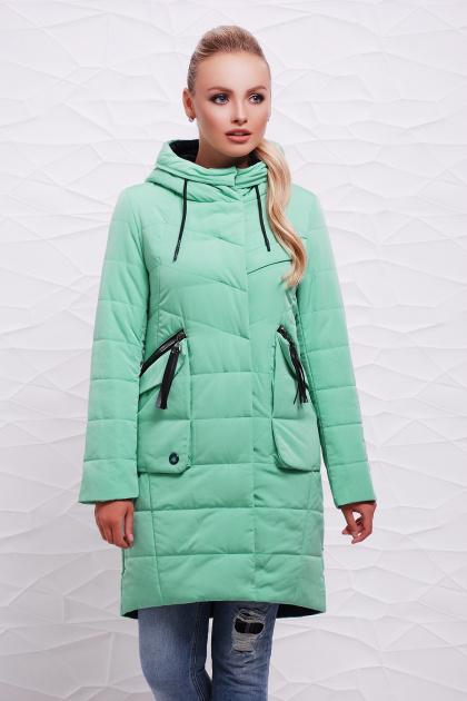 удлиненная демисезонная куртка. Куртка 17-137. Цвет: мята