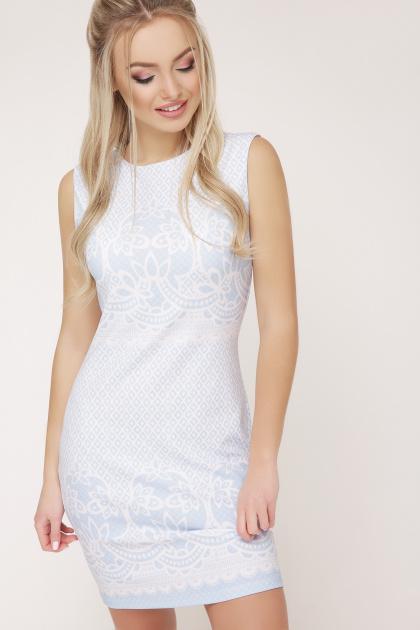 Узор голубой платье Лейла б/р