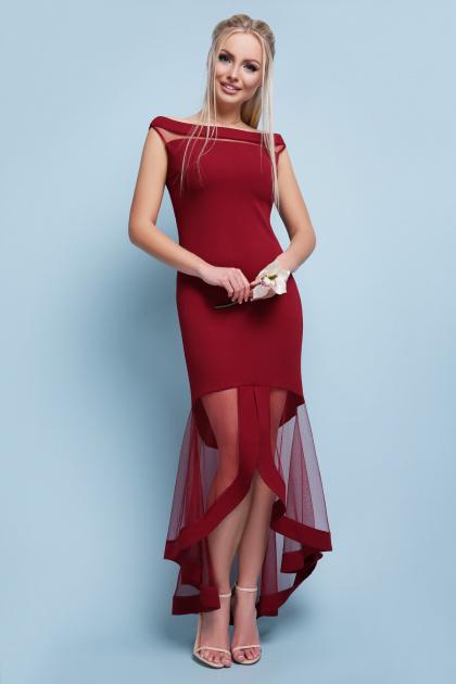 красное вечернее платье. платье Ингрид б/р. Цвет: бордо