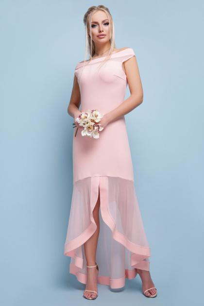 красное вечернее платье. платье Ингрид б/р. Цвет: персик