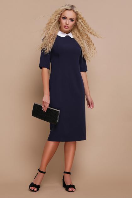 строгое черное платье. платье Ундина 3/4. Цвет: синий