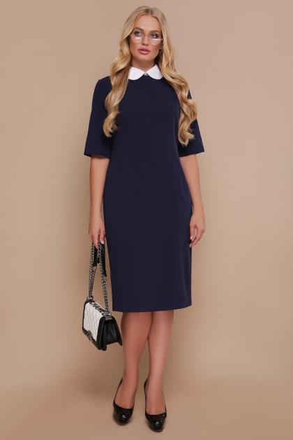 черное офисное платье. платье Ундина-Б 3/4. Цвет: синий