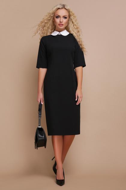 строгое черное платье. платье Ундина 3/4. Цвет: черный
