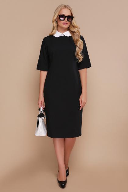 черное офисное платье. платье Ундина-Б 3/4. Цвет: черный