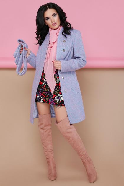 бирюзовое пальто с поясом. пальто П-308. Цвет: 1211-бирюза