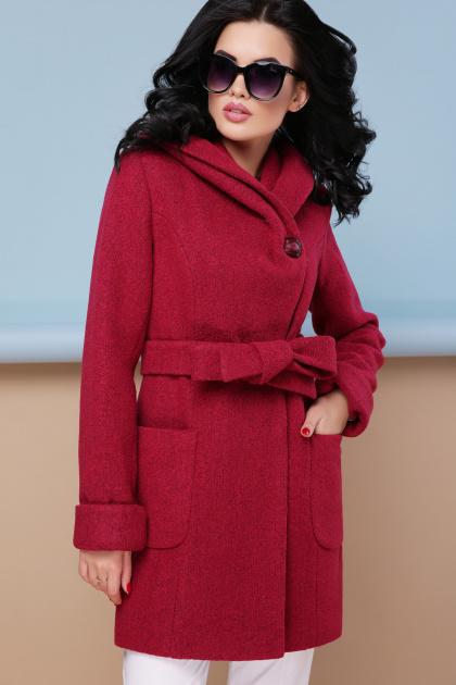 . пальто П-3к. Цвет: бордо