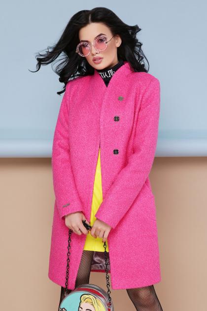 бирюзовое пальто с поясом. пальто П-308. Цвет: 1210-малина