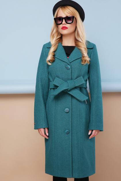 классическое пальто сливового цвета. пальто П-316-100. Цвет: 1007-волна
