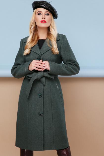 классическое пальто сливового цвета. пальто П-316-100. Цвет: 1009-т.фисташковый