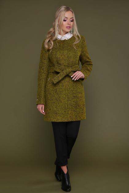 женское пальто цвета электрик. пальто П-337. Цвет: 1222