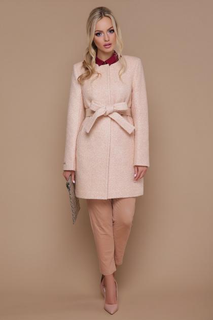 женское пальто цвета электрик. пальто П-337. Цвет: 1218-бежевый