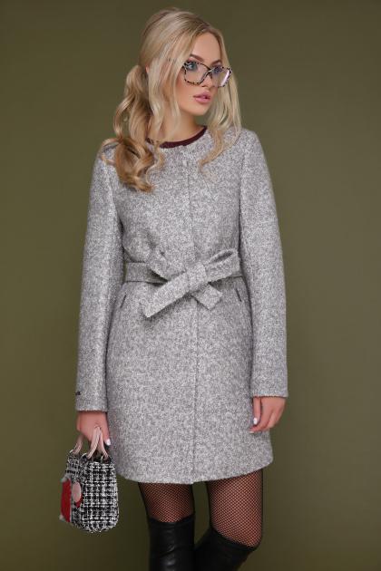 женское пальто цвета электрик. пальто П-337. Цвет: 1219-св.серый