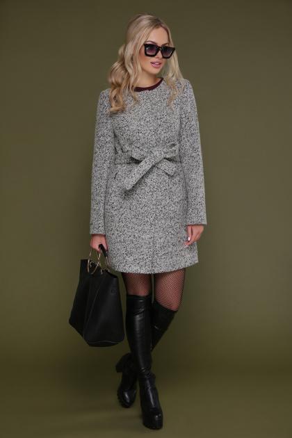 женское пальто цвета электрик. пальто П-337. Цвет: 1205-серый