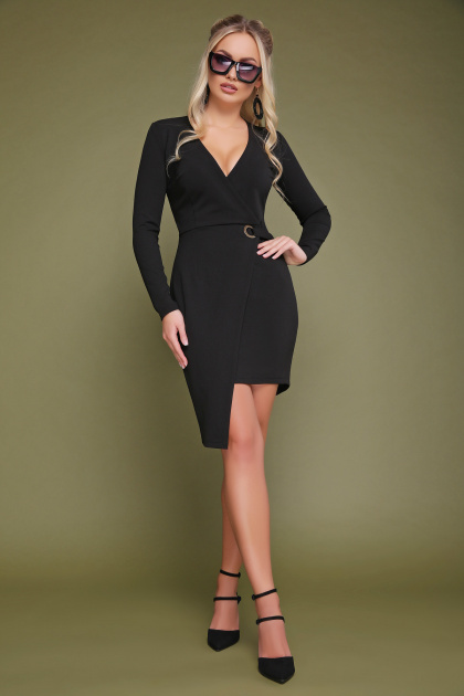 красное платье с запахом. платье Виолетта д/р. Цвет: черный