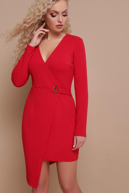 красное платье с запахом. платье Виолетта д/р. Цвет: красный