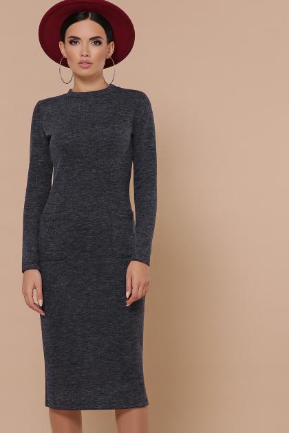 изумрудное платье с карманами. платье Габриела д/р. Цвет: синий
