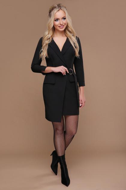 бордовое платье для офиса. платье Полина д/р. Цвет: черный