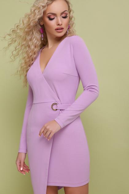 красное платье с запахом. платье Виолетта д/р. Цвет: лавандовый