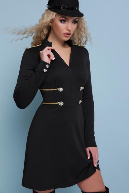 изумрудное платье милитари. платье Ника д/р. Цвет: черный