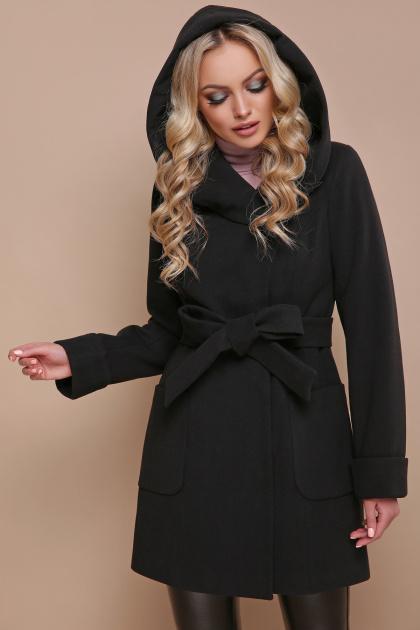 черное зимнее пальто. пальто П-3 кз. Цвет: черный