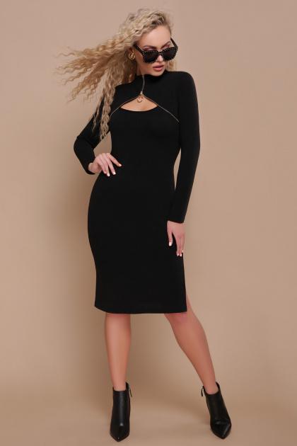 изумрудное теплое платье. платье Альбина д/р. Цвет: черный